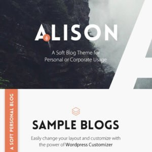 Sale! Buy Discount Anne Alison – Soft Personal Blog Theme - Cheap Discount Price