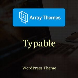 Sale! Buy Discount Array Themes Typable WordPress Theme - Cheap Discount Price