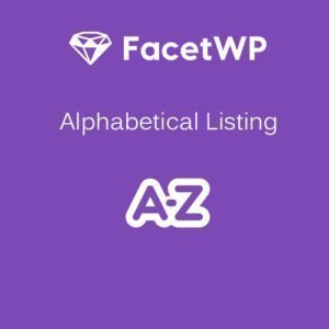 Sale! Buy Discount FacetWP – Alphabetical Listing - Cheap Discount Price
