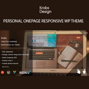 Sale! Buy Discount Krobs – Personal Onepage Responsive WP Theme - Cheap Discount Price