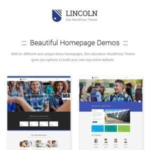 Sale! Buy Discount Lincoln – Education Material Design WordPress Theme - Cheap Discount Price