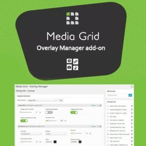 Sale! Buy Discount Media Grid – Overlay Manager Add-on - Cheap Discount Price
