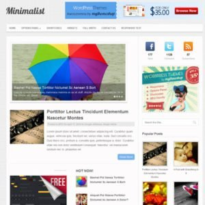 Sale! Buy Discount MyThemeShop Minimalist WordPress Theme - Cheap Discount Price