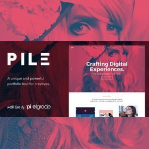 Sale! Buy Discount PILE – An Uncoventional WordPress Portfolio Theme - Cheap Discount Price