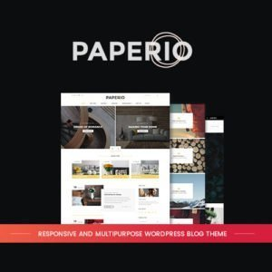 Sale! Buy Discount Paperio – Responsive and Multipurpose WordPress Blog Theme - Cheap Discount Price