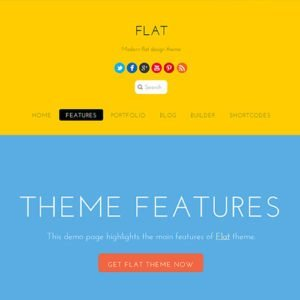 Sale! Buy Discount Themify Flat WordPress Theme - Cheap Discount Price