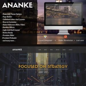 Sale! Buy Discount Ananke – One Page Parallax WordPress Theme - Cheap Discount Price
