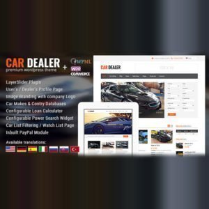 Sale! Buy Discount Car Dealer Automotive WordPress Theme – Responsive - Cheap Discount Price