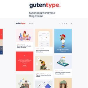 Sale! Buy Discount Gutentype 100% Gutenberg WordPress Theme for Modern Blog - Cheap Discount Price