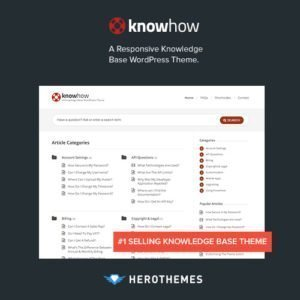 Sale! Buy Discount KnowHow – A Knowledge Base WordPress Theme - Cheap Discount Price