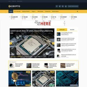 Sale! Buy Discount MyThemeShop Crypto Bitcoin & Cryptocurrency WordPress Theme - Cheap Discount Price