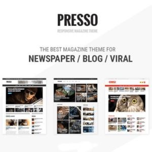 Sale! Buy Discount PRESSO – Modern Magazine / Newspaper / Viral Theme - Cheap Discount Price