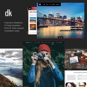 Sale! Buy Discount Photography WordPress | DK for Photography - Cheap Discount Price