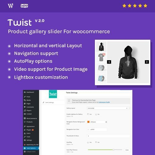 Sale! Buy Discount Product Gallery Slider for Woocommerce – Twist - Cheap Discount Price