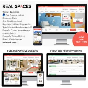 Sale! Buy Discount Real Spaces – WordPress Real Estate Theme - Cheap Discount Price