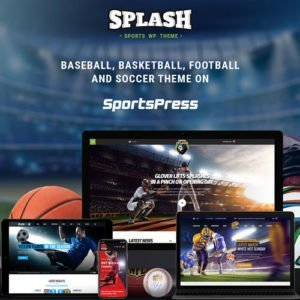Sale! Buy Discount Splash Sport – WordPress Sports Theme for Basketball, Football, Soccer and Baseball Clubs - Cheap Discount Price