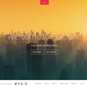 Sale! Buy Discount Themify Fullpane WordPress Theme - Cheap Discount Price
