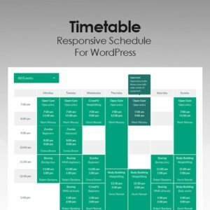 Sale! Buy Discount Timetable Responsive Schedule For WordPress - Cheap Discount Price
