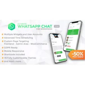 Sale! Buy Discount Ultimate WhatsApp Chat – WordPress WhatsApp Chat Support Plugin - Cheap Discount Price