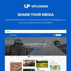 Sale! Buy Discount Uploader – Advanced Media Sharing Theme - Cheap Discount Price