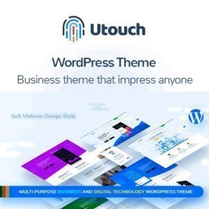 Sale! Buy Discount Utouch Startup – Multi-Purpose Business and Digital Technology WordPress Theme - Cheap Discount Price