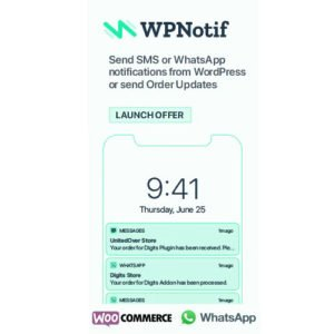 Sale! Buy Discount WPNotif: WordPress SMS & WhatsApp Message Notifications - Cheap Discount Price