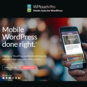 Sale! Buy Discount WPtouch Pro – Mobile Suite for WordPress - Cheap Discount Price
