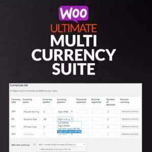 Sale! Buy Discount WooCommerce Ultimate Multi Currency Suite - Cheap Discount Price