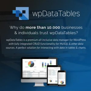 Sale! Buy Discount wpDataTables – Tables and Charts Manager for WordPress - Cheap Discount Price